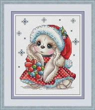 Needlework,DIY Cross Stitch,Sets For Embroidery kits,11CT&14CT,Christmas of the little rabbit