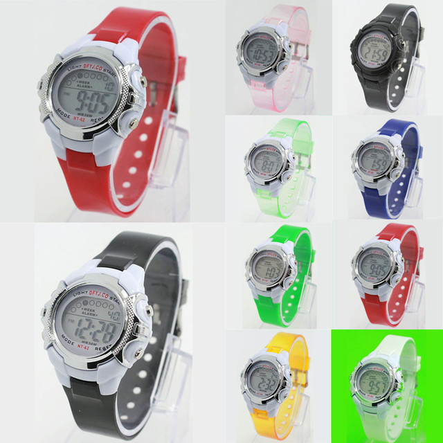 LED Light Girl Boy Alarm Date Digital Multifunction Sport Wrist Watch Kids Watch