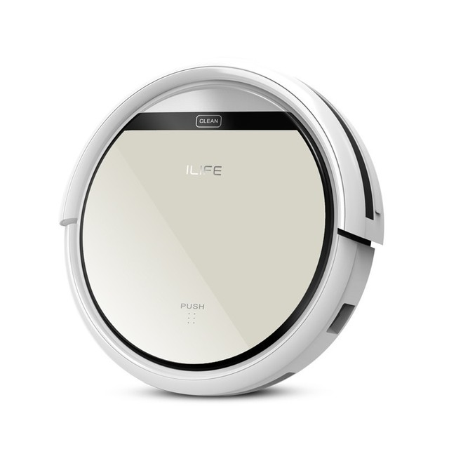 Original ILIFE V50 Robot Vacuum Cleaner with Wet and Dry Pet Hair Care Powerful Suction Slim Design Auto Charge Robot Aspirador