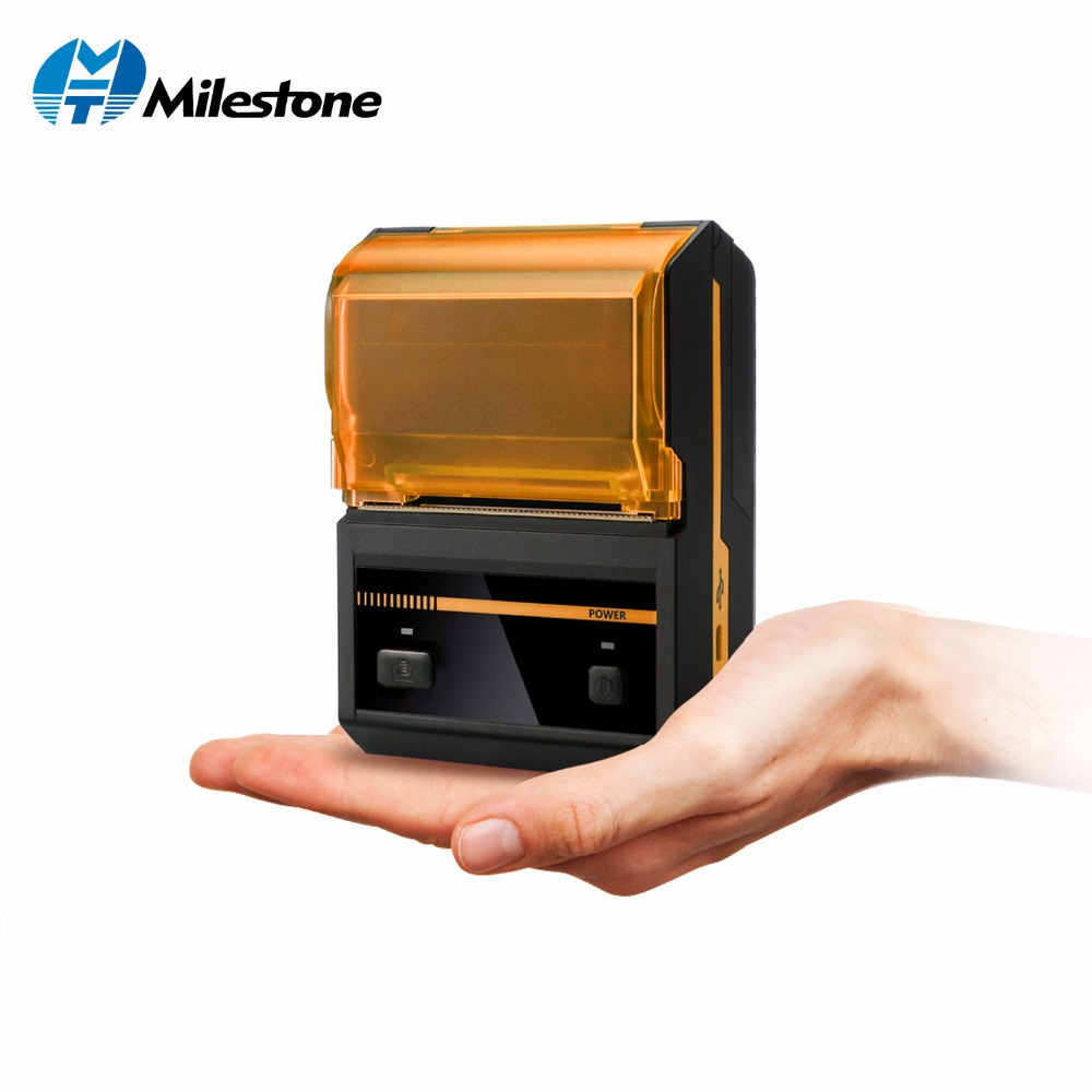 Milestone Bluetooth Thermal Receipt Printer 58mm Mini Wireless Printer Portable Mobile Thermal Receipt Machine For Android POS