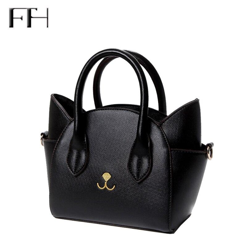 Célèbre Design belle de femmes en cuir top-poignée sacs à bandoulière femelle mignon Chat Messenger sacs à main dame petit totes merveilleux cadeau