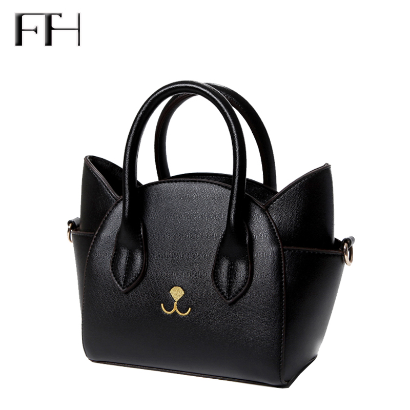 Famous Design lovely womens leather top-handle shoulder bags female cute Cat Messenger handbags lady small totes wonderful gift