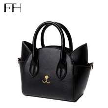 Известный Дизайн прекрасные женские кожаные топ-ручка сумки на плечо женский милый кот посыльного сумки леди маленькие сумки замечательный подарок