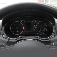 Carbon Fiber Auto Speedometer Decoration Frame Trim Dashboard Odometer Cover Sticker For Audi Q3 2013 2018 Interior Accessories