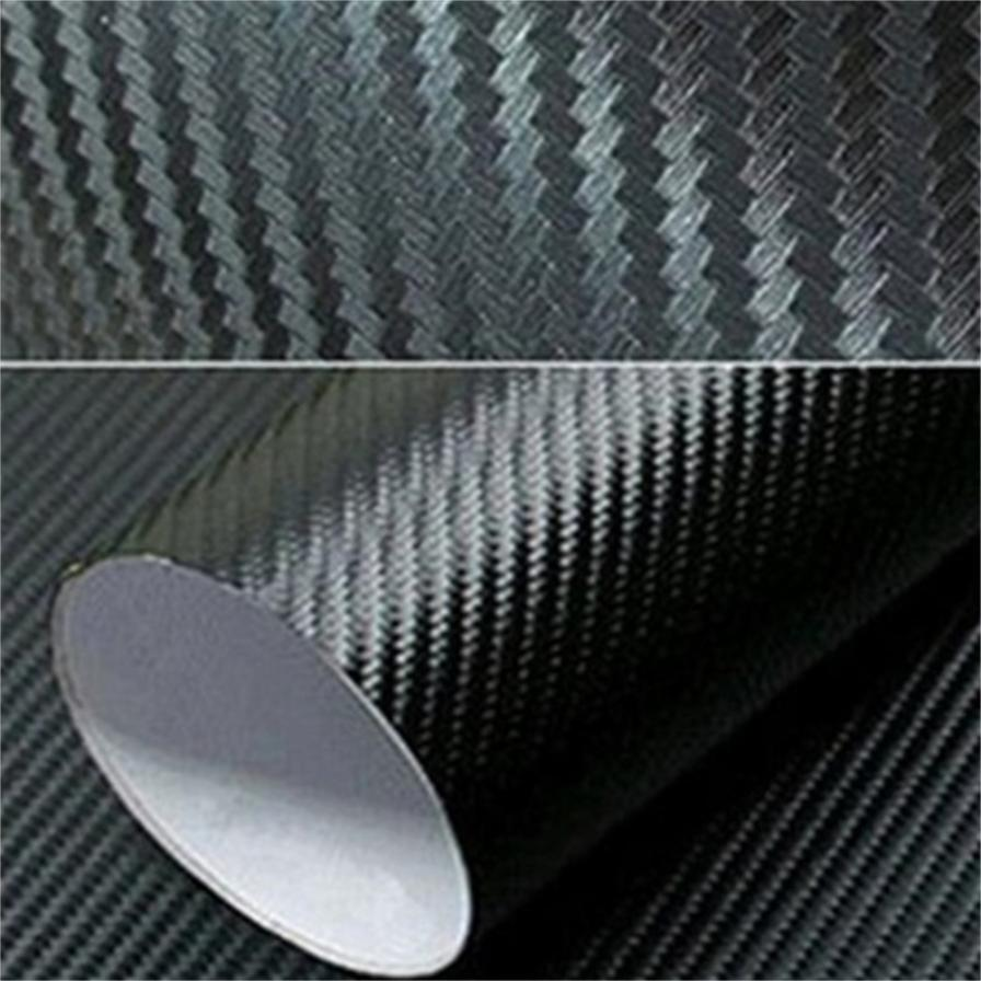 WINOMO 30x127cm Carbon Fiber Wrap Roll DIY Sticker for Car Auto Hood View Mirror Blue