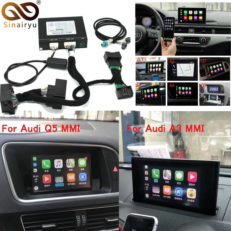 Vidéo Interface avec Apple Carplay Android Auto pour A7 A3 Q3 A4 A6 A5 B9 Q5 Q7 D'origine Mise À Niveau de L'écran MMI système iOS AirPlay