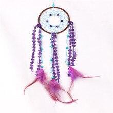 Purple lace handmade dream catcher wind chime ornaments pendant home decoration wedding great garden chimes