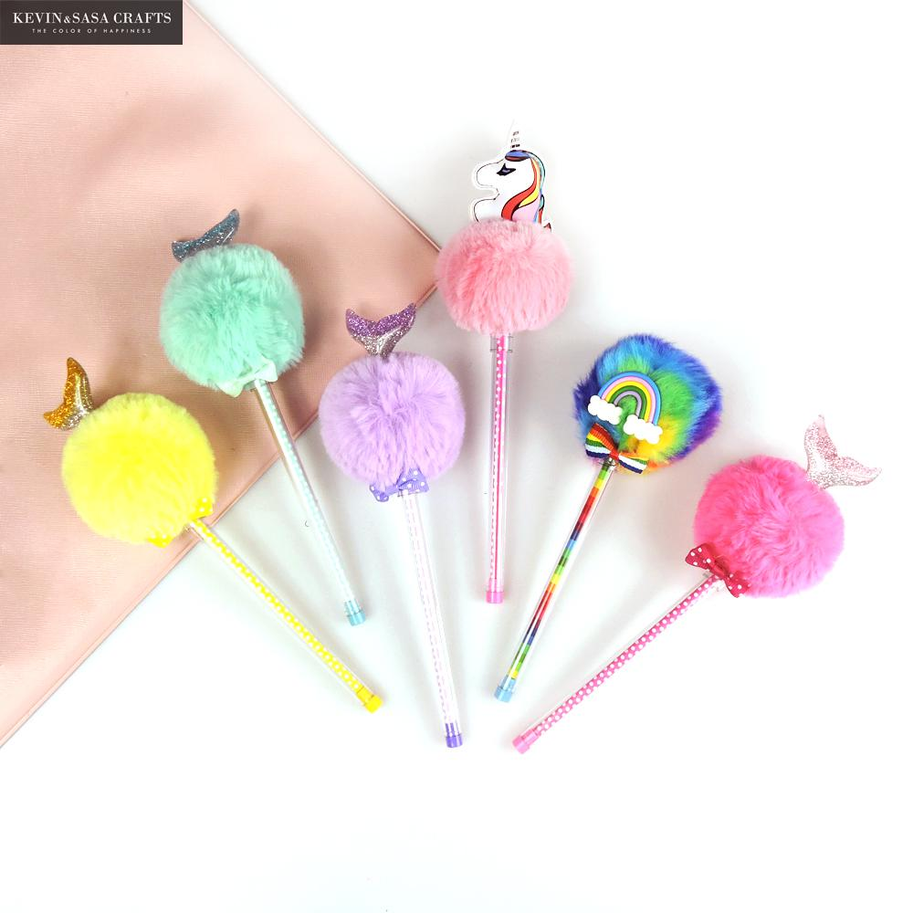 Unicorn Plush Gel Pens Kawaii School Supplies Stationery Gel Ink Pens Gift School Stationery Office Suppliers Bts Kids Pen Tool 12pcs set gel pen color pen stationery tools school supplies gel ink pen school stationery office suppliers pen kids gift office