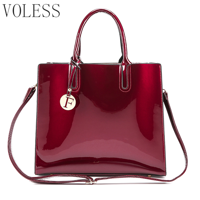 Famous Brand F Glossy Big Tote women bags High Quality Women PU Leather  Handbags Letter Shoulder Crossbody Bag Messenger Bags 18ef15a4fa739