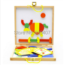 Small wholesale multifunctional wooden jigsaw puzzle Dole genuine three-dimensional color magnetic toy building bl