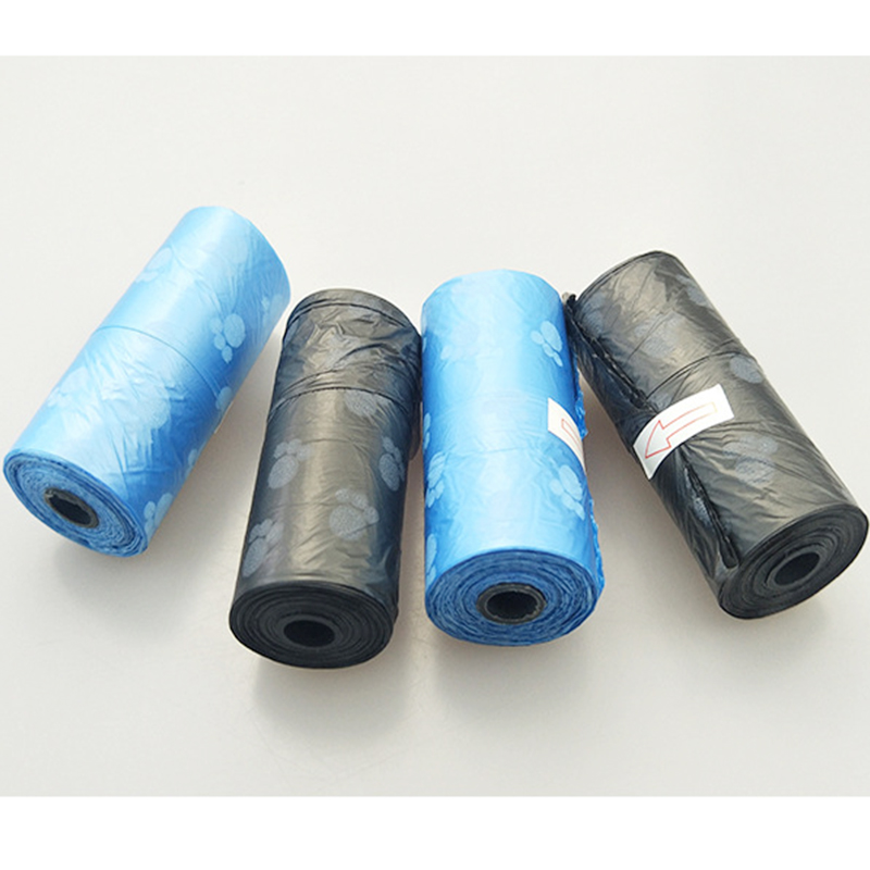 6 Rolls 90 pcs Pets Dog foot print Waste Pooper Bag Fecal bag Printing Degradable Cleaning up Bags litter bags Supplies