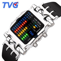TVG גברים שעונים אופנה ספורט שעון דיגיטלי רצועת סיליקון Mens שעוני יוקרה מותג עליון גברים שעון Relogio Masculino