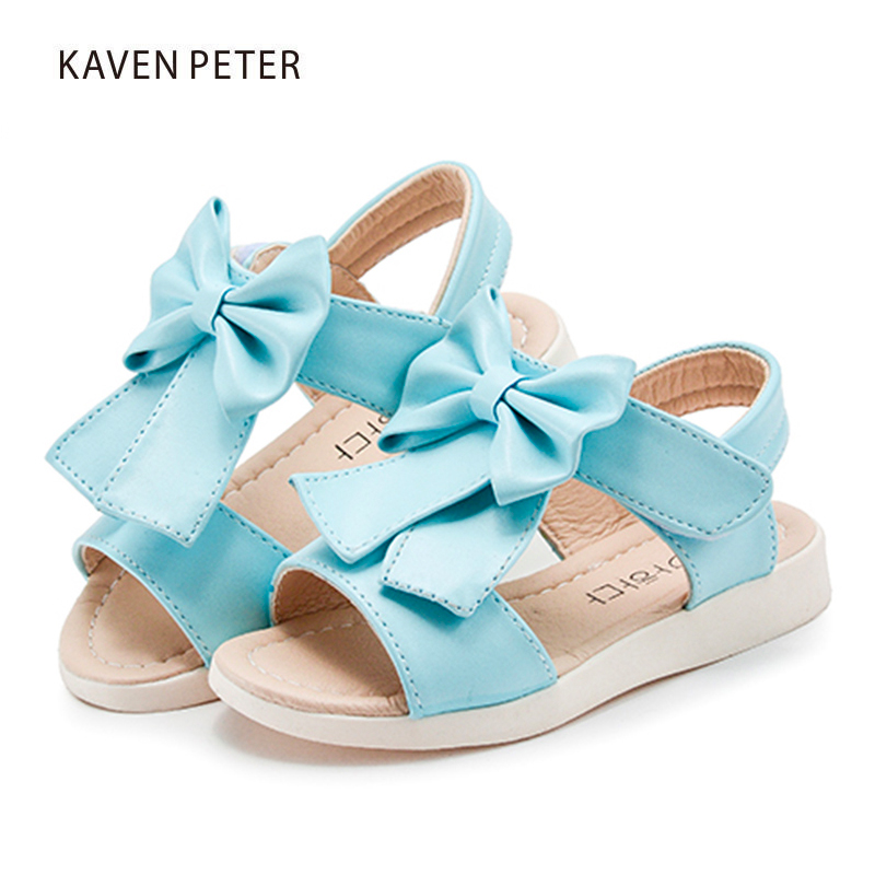 3d5230aba745df Summer Gladiator sandals girls Sandals flip flops with bowties flat shoes  Shiny pu leather bling shoes ...