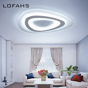 Image 5 - Dreieck thin moderne LED decke kronleuchter Kreative arc dreieck Plexiglas lampe hause flush montieren hause beleuchtung lumiere luz