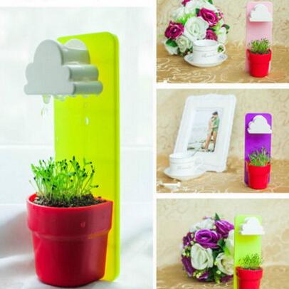 1Pc Rainy Cloud Shaped Plant Hanging Baskets Pot Mini 18X7cm Wall-hung Flowerpot Home Garden Decor