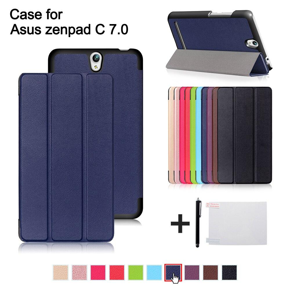 Case for Asus Zenpad C 7.0 Z171KG 7 2017 Slim Magnetic Folding Cover PU Leather Case for Asus Zenpad C Z171 7 inch tablet +gift protect защитная пленка для asus zenpad c 7 0 z170cg матовая