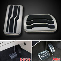 Auto Stainless Steel Racing Fuel Gas Brake Foot Reast Pedal Pad Cover Plate For Edge 2015