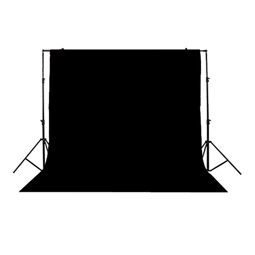 Photo Studio Background Cloth Backdrop Screen, Non-woven Fabrics (3 x 3M, Black) supon 6 color options screen chroma key 3 x 5m background backdrop cloth for studio photo lighting non woven fabrics backdrop
