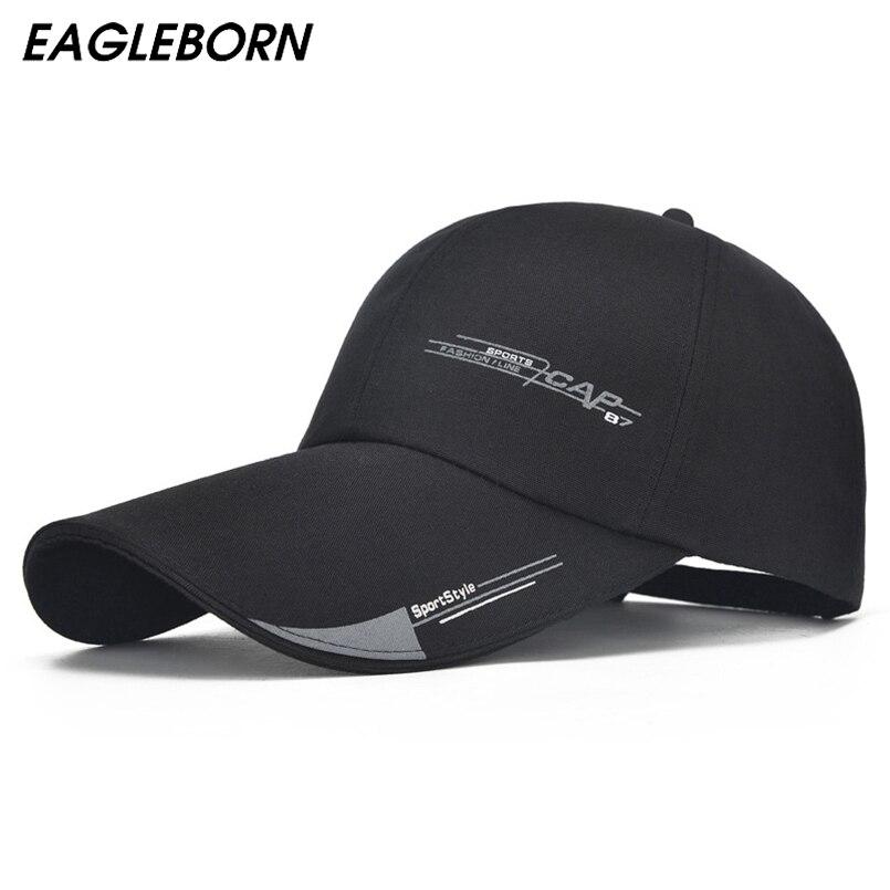 2019 Unisex gorra de deporte para hombre Casual de mujer tapa para la pesca  al aire libre de larga visera de malla de verano sombrero de papá sombrilla  ... 76ff8f2c097