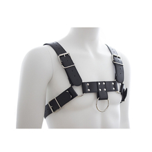 Men Bondage Harness PU Leather Gay Male In Adult Game Adjustable Buckle Body Chest Toy