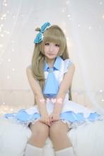 New love live minami kotori cosplay lolita maid disfraces para mujeres niñas sexy mucama dress