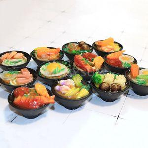 Image 2 - 2 個 1/6 スケールミニチュア日本シーフード麺ふり食品ドールハウスキッチンのためにブライスbjd人形のための子供