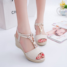 Women Wedges Sandals 2019 Summer Platform Shoes Woman Open T