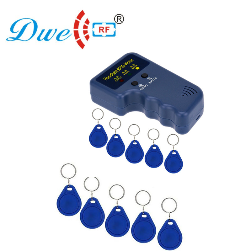 Free shipping id tag rf card writer rfid clone duplicator key copier 125khz with 10 EM4305 T5577 clone card tag free of charge  Free shipping id tag rf card writer rfid clone duplicator key copier 125khz with 10 EM4305 T5577 clone card tag free of charge