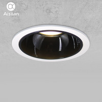 Aisilan Round Recessed LED Modern Downlight Angle Adjustable Built in LED lamp Spot light AC90 260V 7W for Indoor Lighting