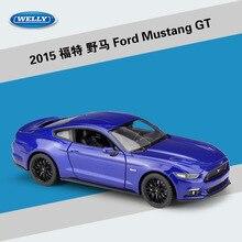WELLY jouet de voiture en métal Ford Mustang GT, modèle de voiture en alliage classique, échelle 1:24 coulée en plastique, Collection de cadeaux pour garçons