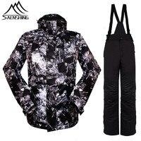 Saenshing Winter Ski Suit Men Snowboard Jacket Ski Pant Waterproof Windproof Snow Jacket Warm Outdoor Ski
