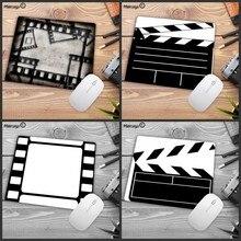 Mairuige gran promoción película Vintage como ratón de velocidad de película para jugadores venta al por menor pequeño tamaño de alfombrilla de goma lavable para alfombrilla de 18x22cm