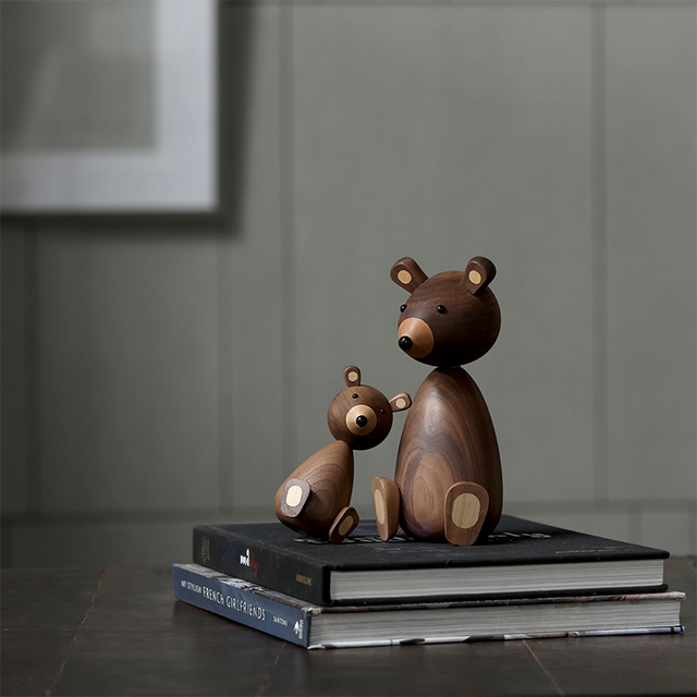 Russia Little bear wood ornaments for decor squirrel for furniture wood crafts shipping small gifts wood bear toy ornament home 3