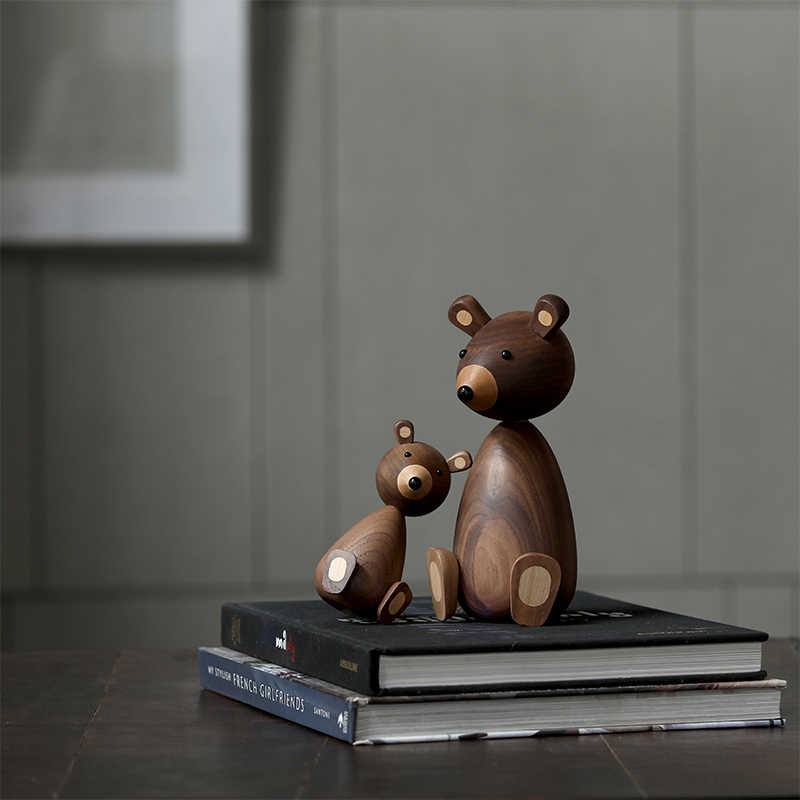 Россия маленький медведь деревянные украшения для декора белка для мебели деревянные ремесла доставка небольшие подарки деревянный медведь игрушка орнамент дом