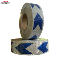 Car Styling Black White Arrow Reflective Safety Warning Tape Safety Reflective Automobiles Motorcycle Reflective Film