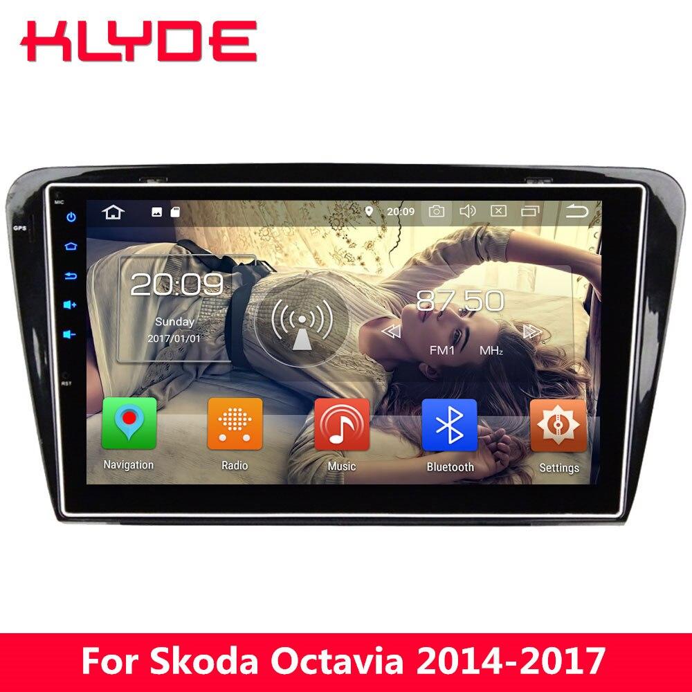 10,1 4G wifi Восьмиядерный Android 8 4 Гб ОЗУ 32 Гб ПЗУ RDS BT AM автомобильный DVD мультимедийный плеер gps Navi для Skoda Octavia A7 2014 2017