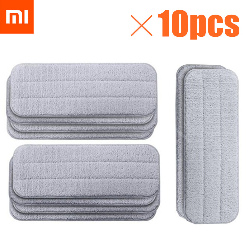 Xiaomi Mijia Deerma Replace Mop For Mi Mijia Water Spray Mop 360 Rotating Cleaning Cloth Head Wooden Carbon Fiber Cloth C2