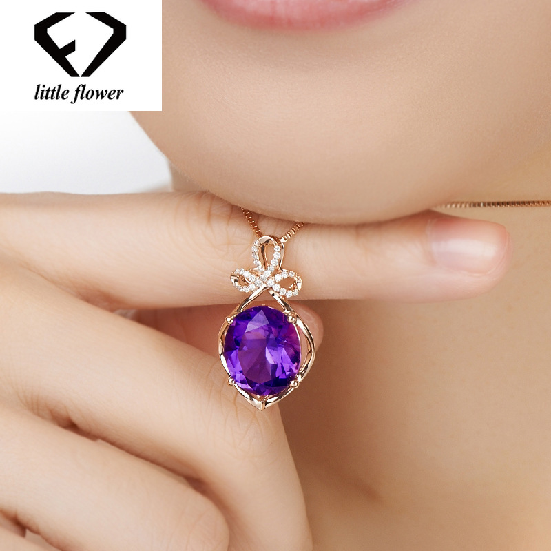 Pendentif naturel femme 14K or Rose péridot collier de pierres précieuses Bijoux ou Bizuteria diamant Bijoux pierre gemme pendentif mystique