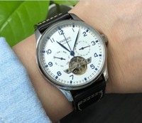 Sapphire crystal or mineral glass 43mm PARNIS Automatic Self Wind Mechanical movement men's watch  Auto Date  and week  pa153 p8|Mechanical Watches|   -