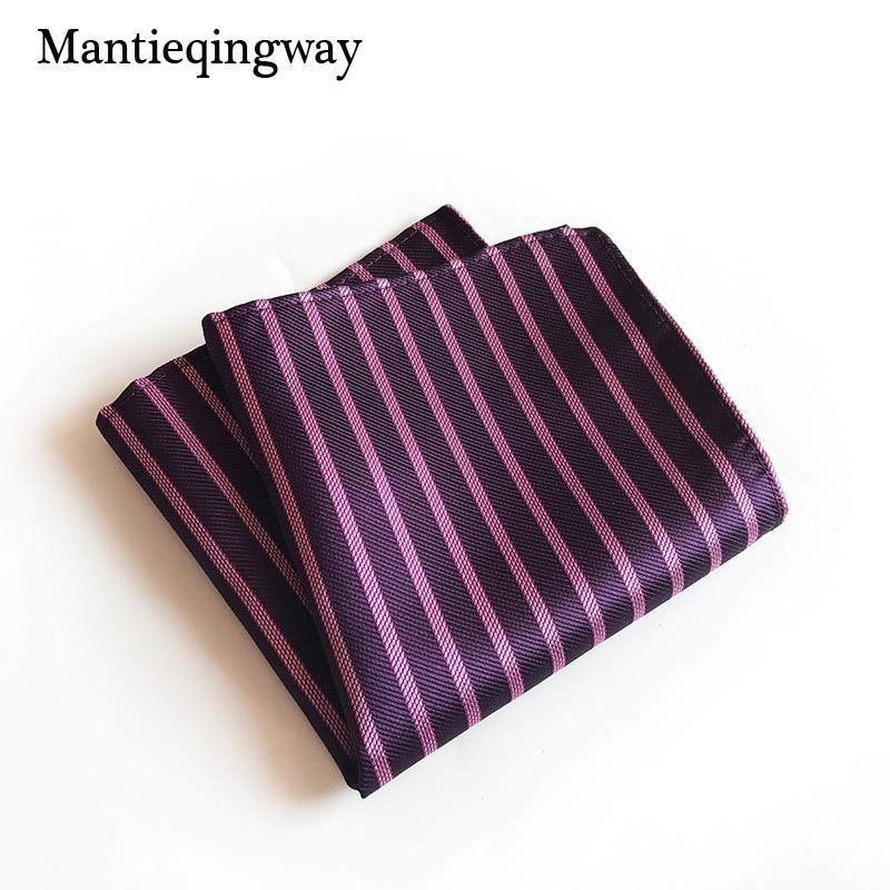 Mantieqingway Business Handkerchief For Mens Shirt Striped Plaid Pocket Square Pocket Towel Wedding Hankies Chest Towel