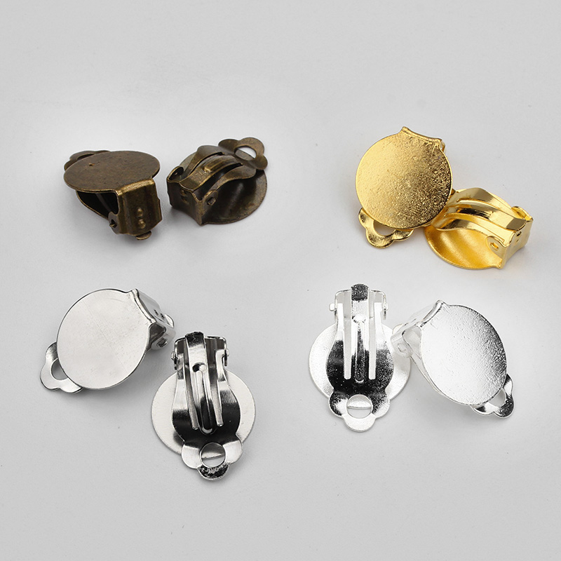 10pcs Lot Zinc Alloy Ear Clips Clasp Jewelry Clasps