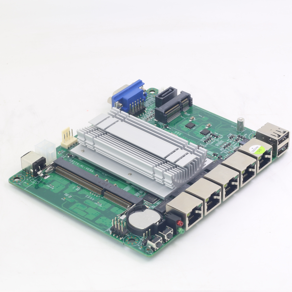 Pfsense Mini ITX Motherboard Fanless with Intel Celeron J1900 Processor 4 Gigabit LAN ports Intel NIC apply for Firewall Router купить недорого в Москве