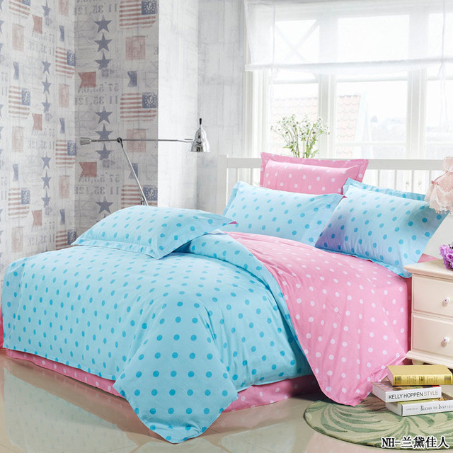 Hot Cute Bright Pink And Turquoise Princess Girls Polka Dot Bedding