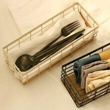 Ретро железный ящик для хранения творческий рабочего хранения корзины, стойки ящик Zakka коробка