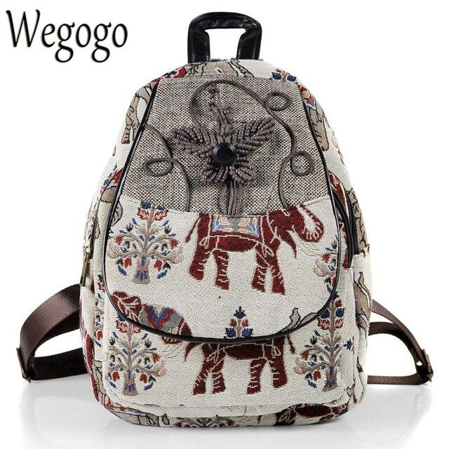 Embroidery Backpack Elephant 10Off Women chinese Bag Us23 Schoolbag Shoulder 38 Travel Woman Canvas Embroidered Mochila In Rucksack KJFlc3uT1