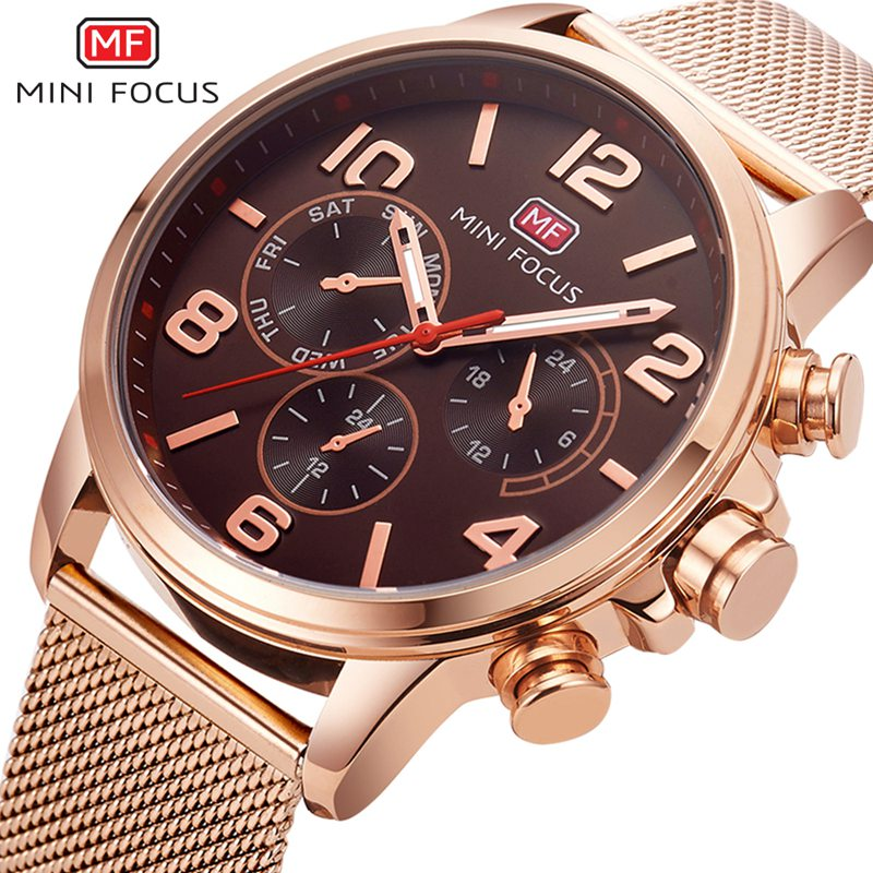 MINI FOCUS Original Casual Watch Men Luxury Brand Quartz Military Sport Watch Relogio Time Hour Clock Reloj Hombre Mens Watches цена