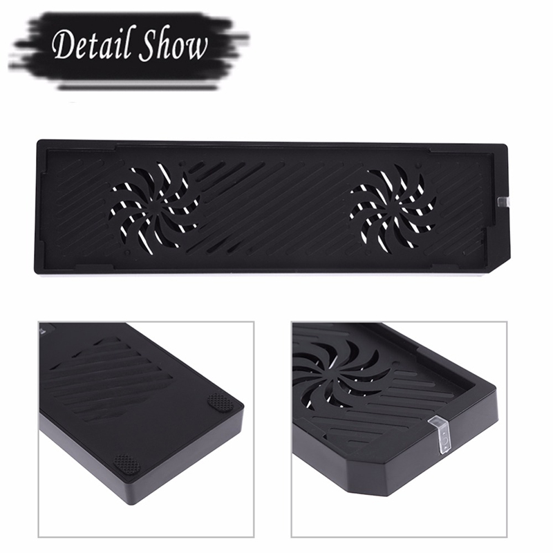 Portable Cooling Fan For Xbox One X Console 2 Ports Console Holder Vertical Stand Cooler For Microsoft Xbox Game Accessories