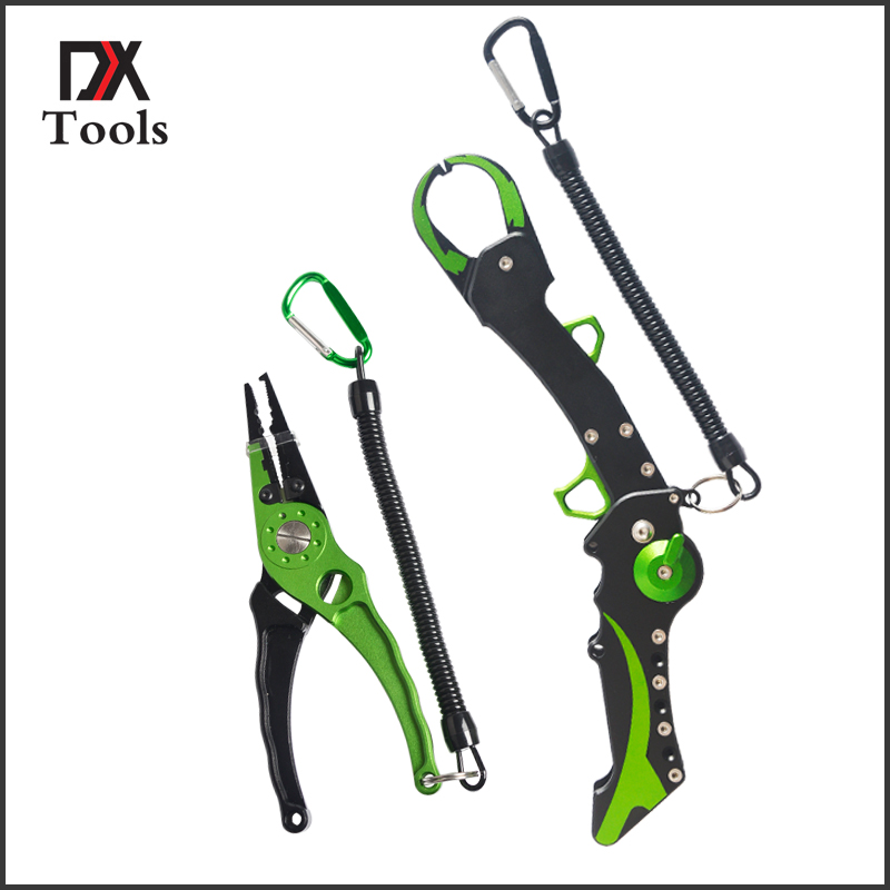 New Style Folding Fishing Lip Grip Fishing Gripper Fishing Tool With  Light Weight Aluminium Fishing Pliers Tackle aluminum folding fish lip grip 60kg controller