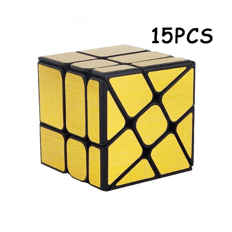 15 PCS MoYu Or Miroir Magique cube Étrange-forme Cubo magico Professionnel Vitesse Twist Puzzle Neo Cube Éducation Jouets pour Enfants