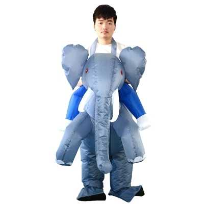 Adulto divertido Animal inflable elefante vestido de fantasía traje elefante mascota disfraz Halloween Purim Stag